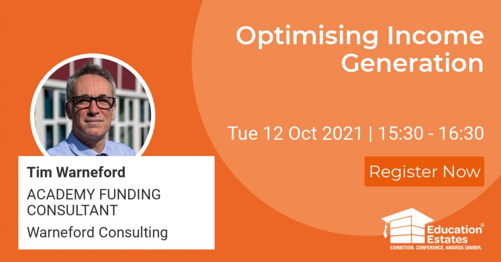 Tim Warneford Speaking at Education Estates in Manchester October 12-13th